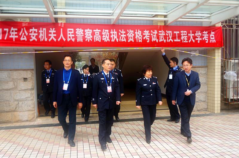 公安厅领导检查2017年公安机关人民警察高级