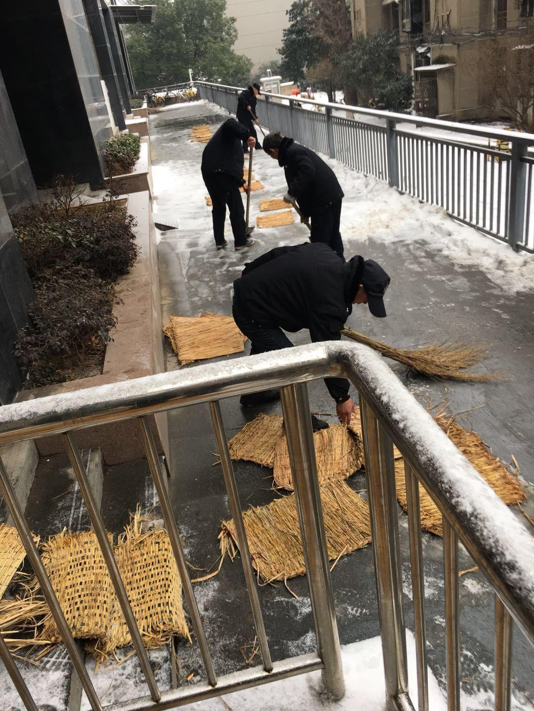 全校各部门积极开展铲雪破冰工作 确保校园安全